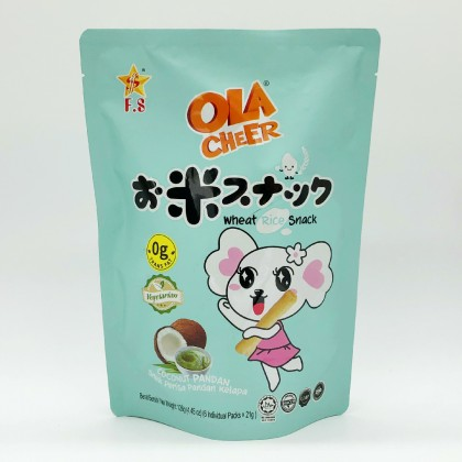 OLA CHEER CRUNCHY RICE STICK-COCONUT PANDAN